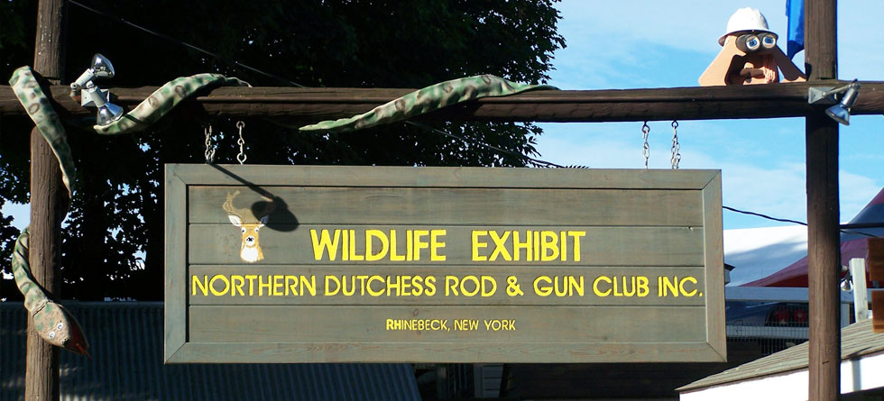 wildlife exhibit at Dutchess County Fair